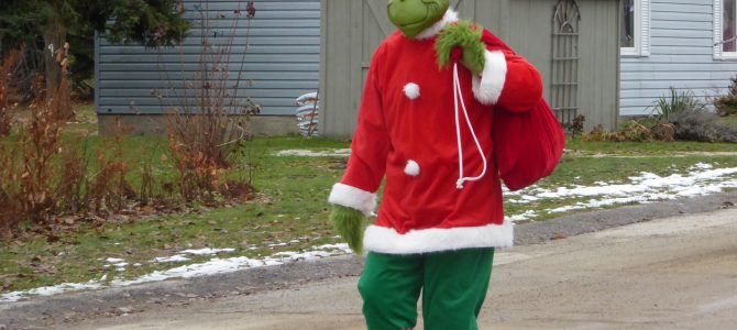 Greenough Grinch Appears with Santa!